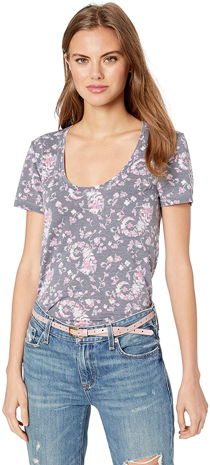 Lucky Brand Women's Floral Burnout Tee