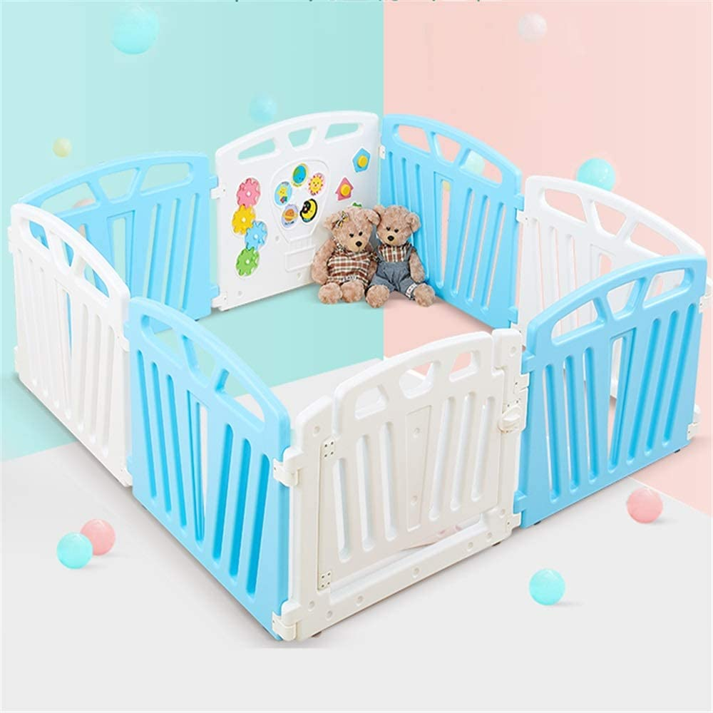 YADSHENG Children's Playpen Baby Child Game Fence Baby Crawling Toddler Fence Climbing Climbing Mat Safety Playpen Playards (Color : Color1, Size : 156x156x60cm)