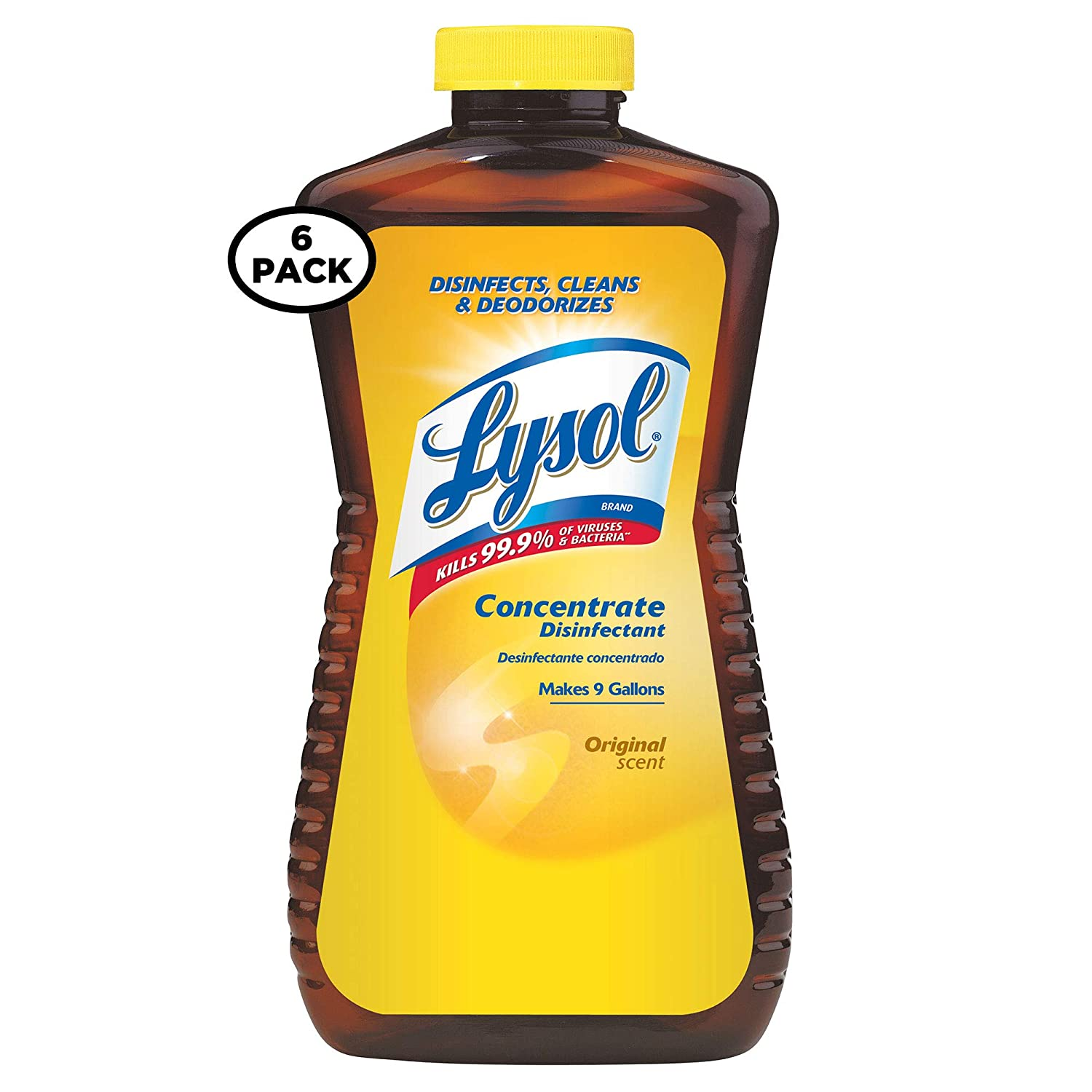 LYSOL Concentrate Disinfectant, Original Scent 12 oz (Pack of 6)