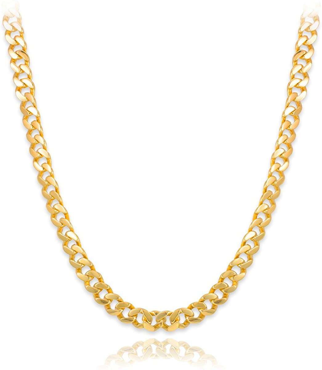 Men's Solid 10k Yellow Gold 10mm Cuban Link Chain Necklace