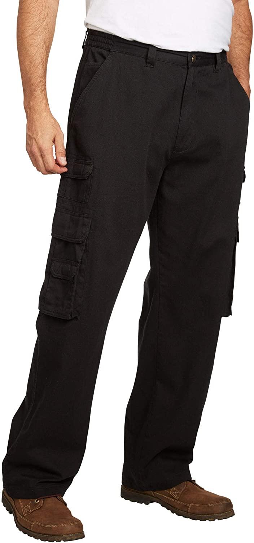 Boulder Creek by Kingsize Mens Big & Tall Side-Elastic Stacked Cargo Pocket Pants