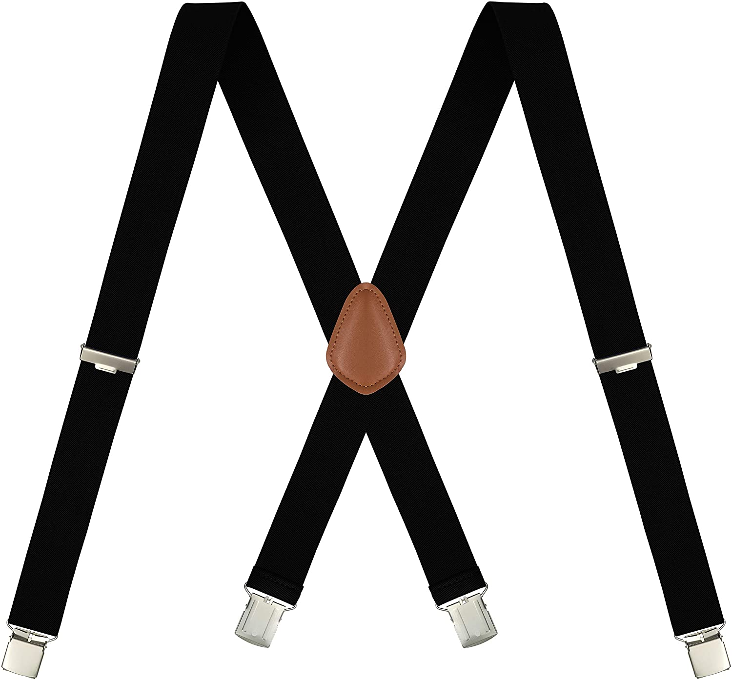 Men's X-Back 1.4 Inches Wide Heavy Duty Clips Adjustable Suspenders