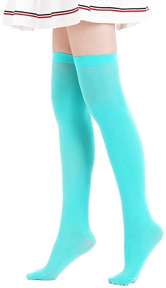 Over Knee Striped Stockings Tight Knee-High Warm Stocking Cute Extra Long Christmas Costume Cosplay Stockings for Girls