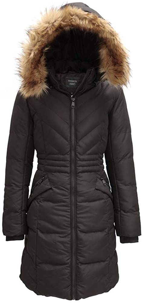 N.A Women's Winter Puffer Coats with Fur Lining and Removeable Hood