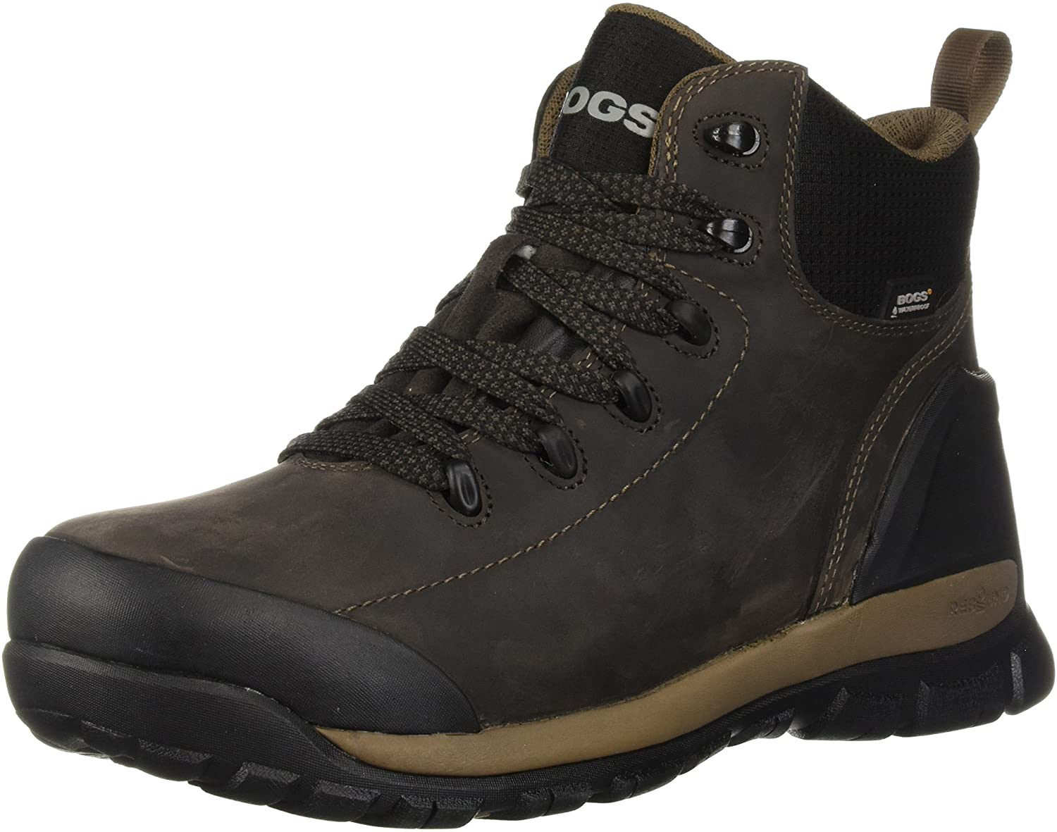 Bogs Men's Foundation Leather Mid Waterproof Soft Toe Industrial Boot