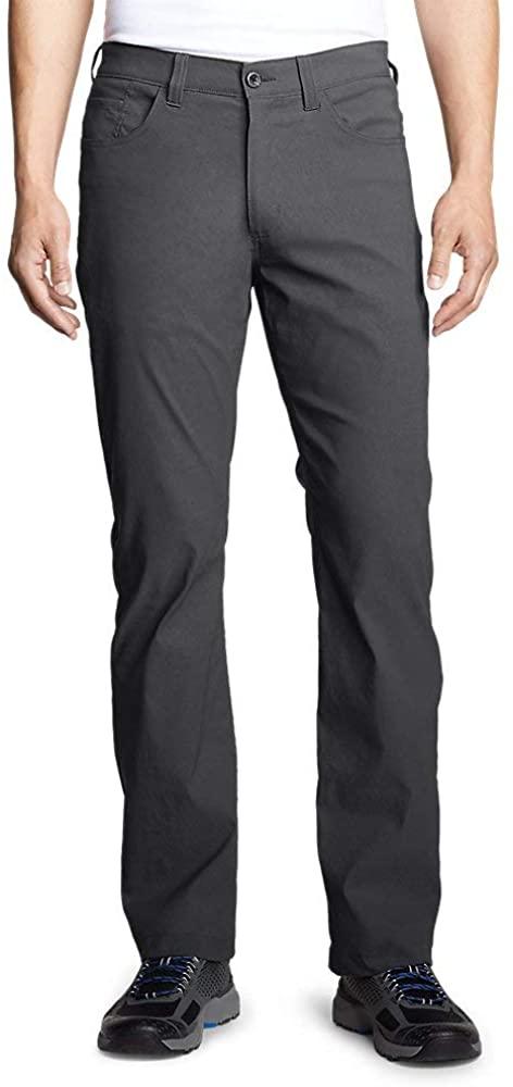 Eddie Bauer Men's Horizon Guide Five-Pocket Pants - Straight Fit, Carbon Regular