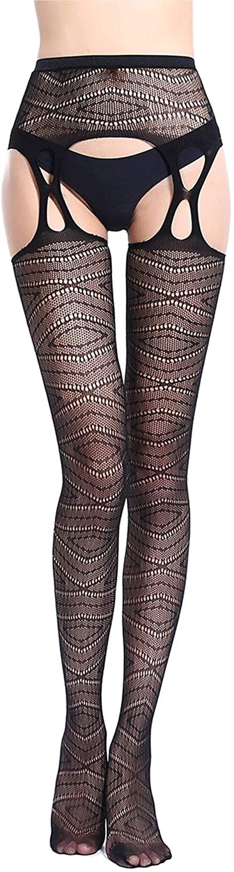 Stockings for Women Fishnet Tights-High Black Socks Lace Leggings Pantyhose