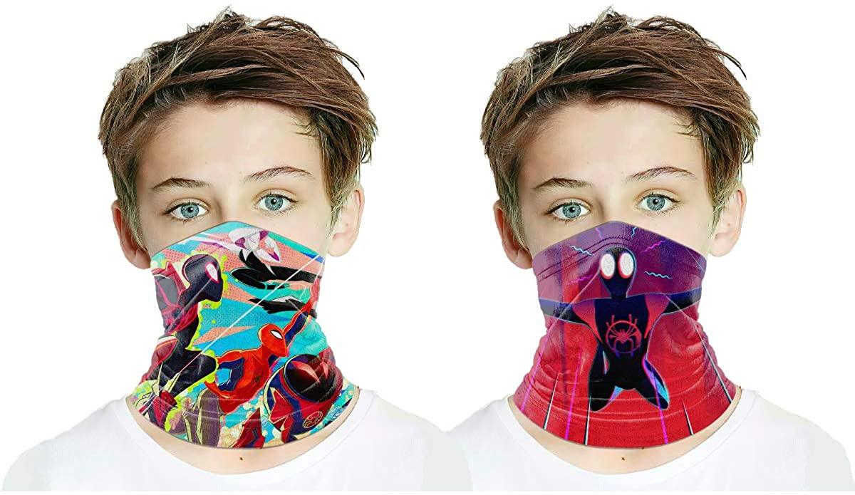 Kids Face Mask Bandanas Scarf For Dust Outdoor Breathing Reusable for Boys Girls 2pcs