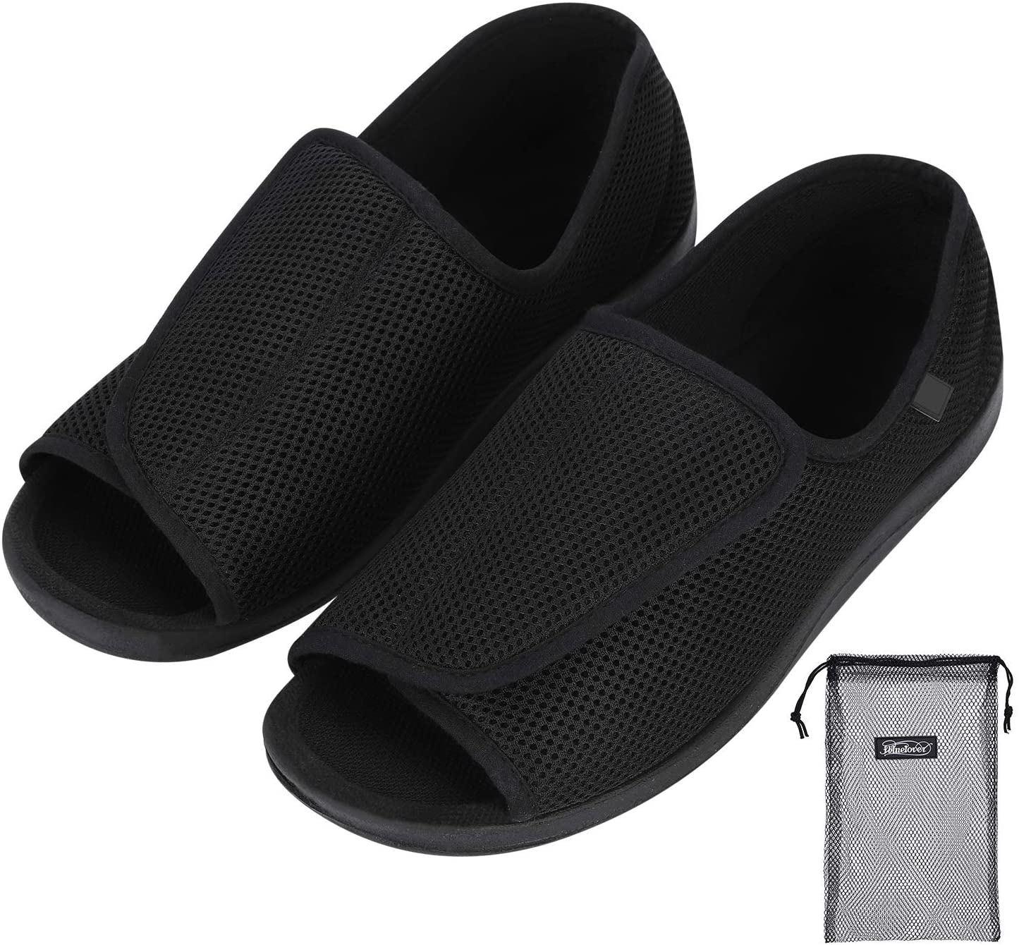 Diabetic Shoes Walking Open Toe Shoes Broken Toes Slippers Durable Square Toe Support Brace for Broken Bones Man Fracture Recovery Injury Foot Suitable for Bunion Feet, Diabetic People