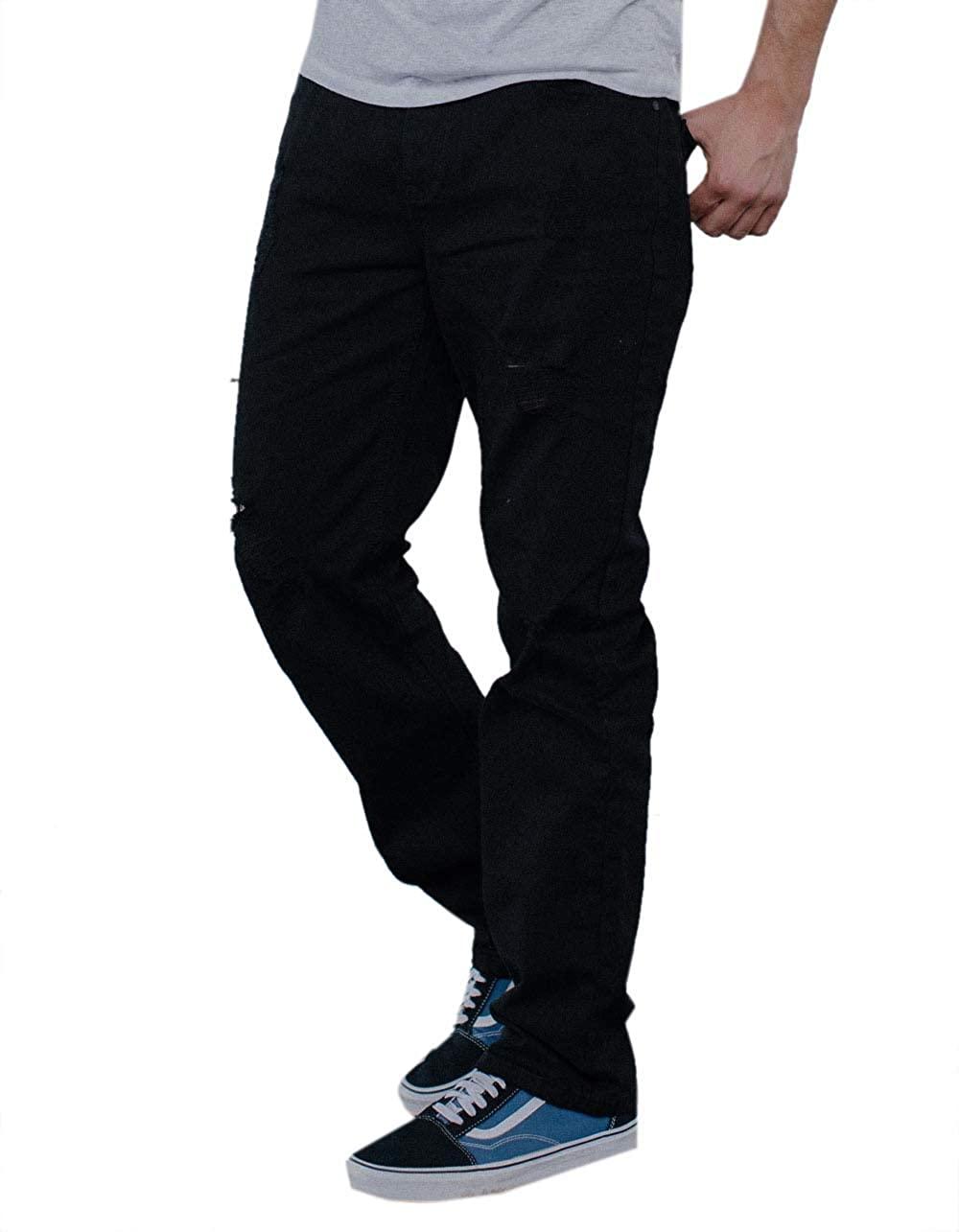 Rsq Slim Straight Ripped Black Jeans