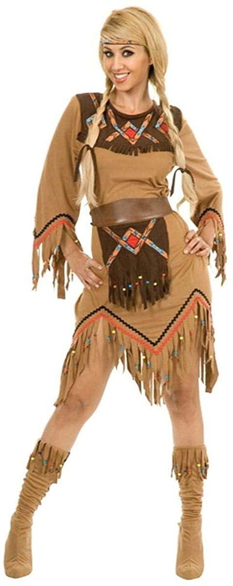 Sacajawea Indian Maiden Adult Costume(Medium-As Shown)