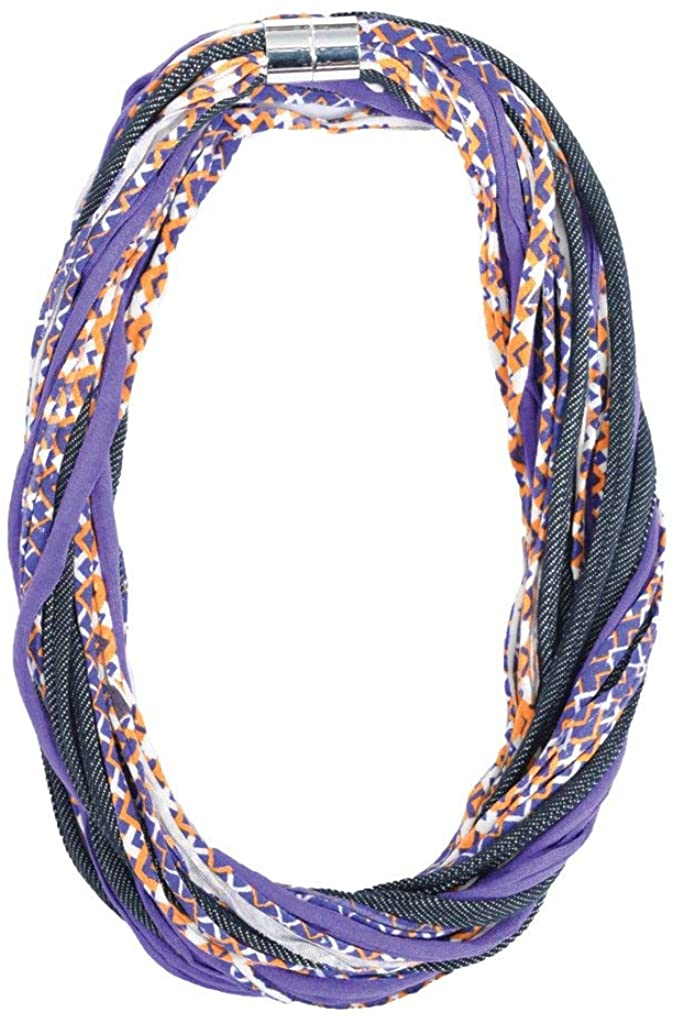 Dona Bela Shreds Fabric Necklaces for Women - Upcycled Statement Necklace with Magnetic Clasp - Maggie