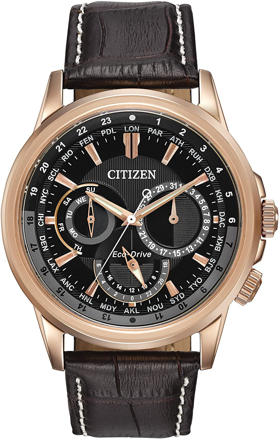 Citizen Men's Eco-Drive Stainless Steel Watch with Day/Date, BU2023-04E