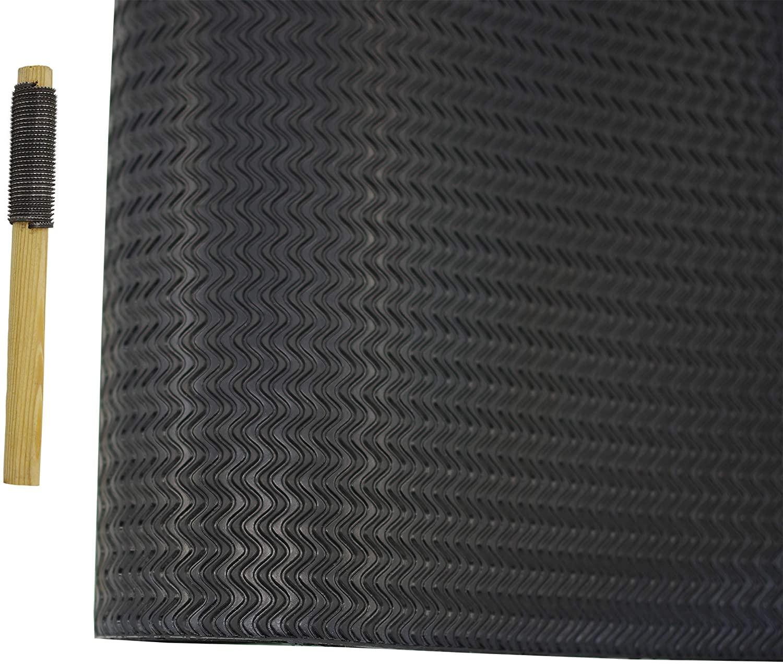 Shoe Sole Repair Rubber Sheet Pad Anti Slip Soling Sheet Half Soles 22.44 X 14.96 inch (Black, Thickness 3.2mm)