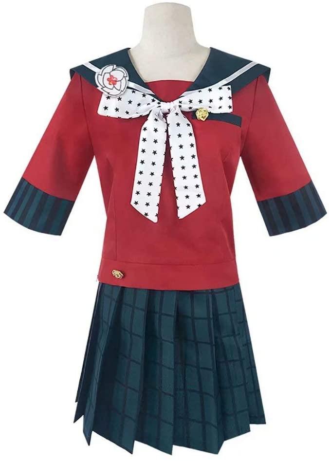 MILKone Maki Harukawa Cosplay Costume Danganronpa V3 Dress for Girls Women School Uniform Sailor Skirt Outfit for Halloween -Full Set Skirt Top Bow Tie Socks