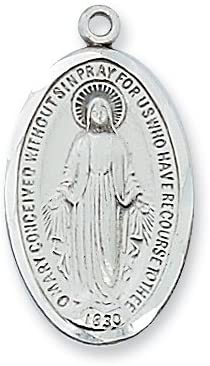LMG1S STERLING SILVER MIRACULOUS MEDAL 18