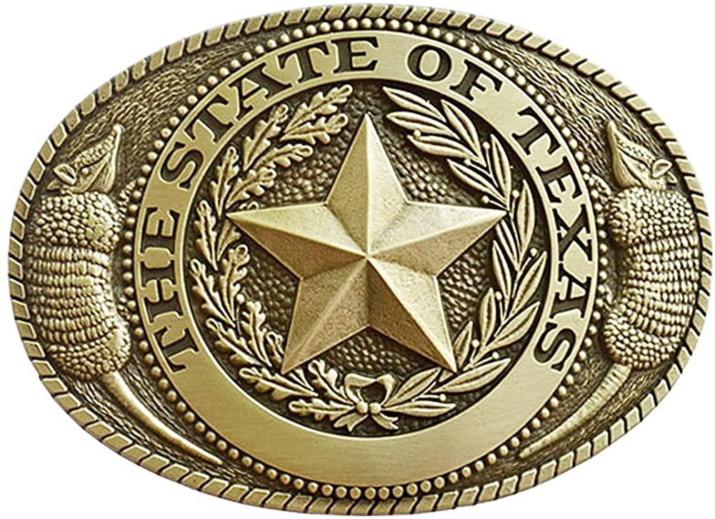 Indiana Metal Craft Men's State Of Texas Seal Belt Buckle