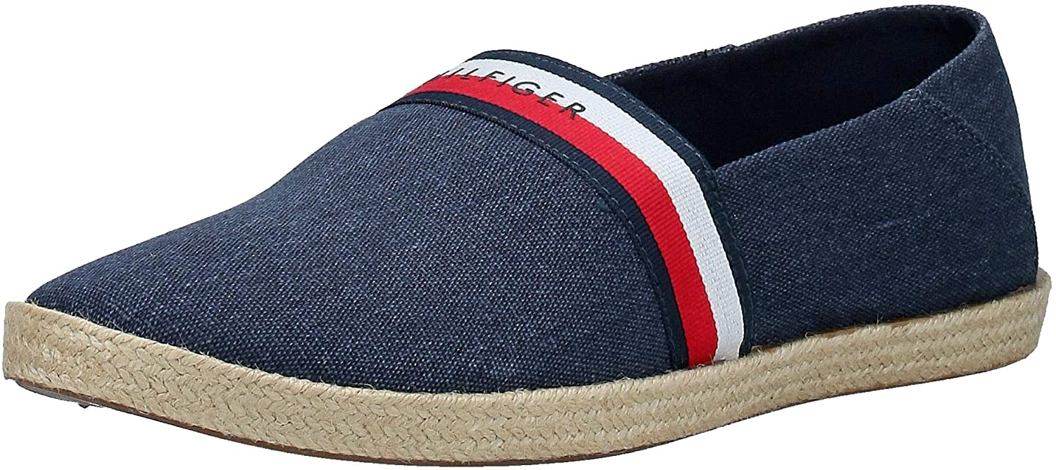 Tommy Hilfiger Strap Espadrille Mens Shoes Navy