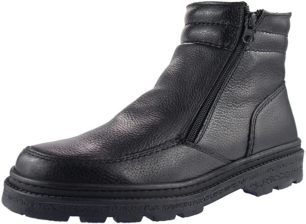Roamers Mens Twin Zip Faux Fur Thermal Warm Lined Boots