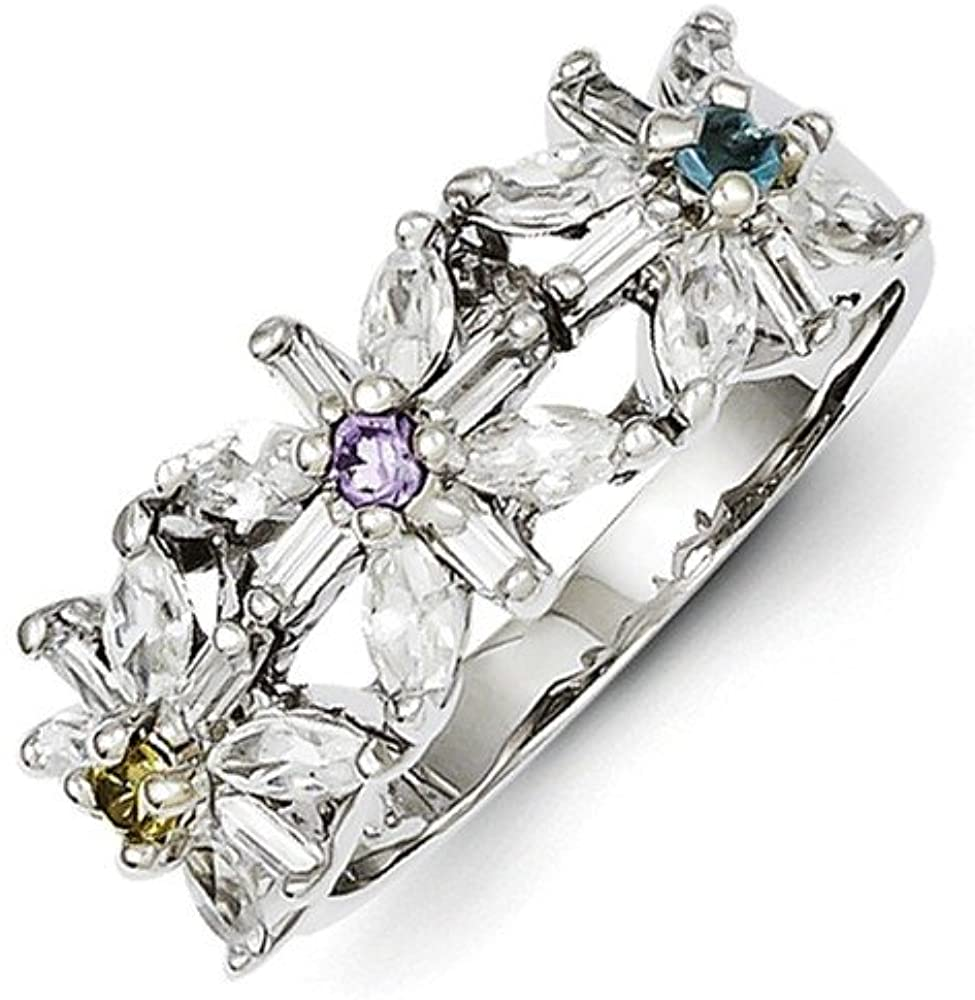 925 Sterling Silver Yellow Clear Cubic Zirconia Cz Floral Band Ring Flowers/leaf Fine Jewelry For Women Gift Set
