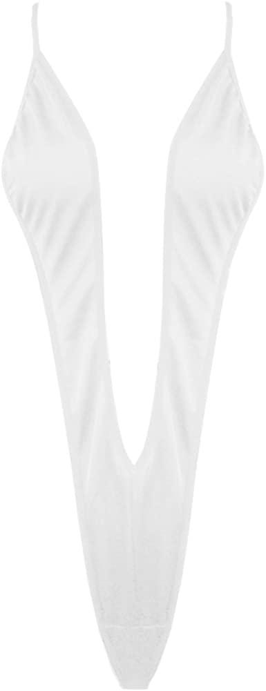 Hularka Womens One-Piece Monokini Sling Shot Swimsuit High Cut Thong Leotard Bodysuit Lingerie
