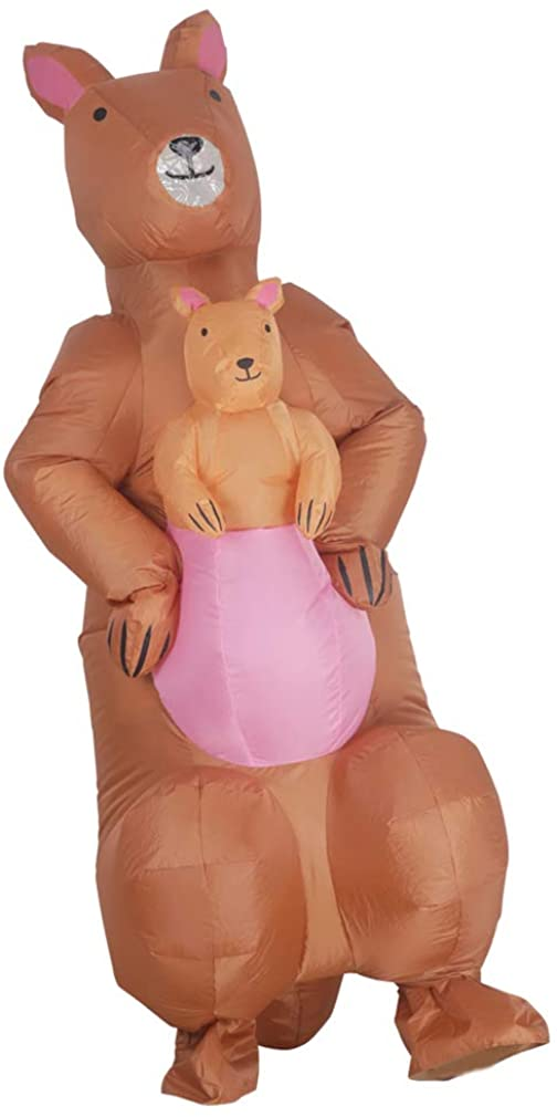 Arokibui Funny Kangaroo Inflatable Costume for Women Animal Blow up Costume for Halloween Cosplay Party Christmas Costume