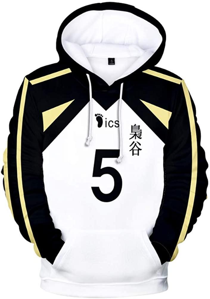 DOUJIONG Anime Bokuto Koutarou Cosplay 3D Printed Pullover Hoodie Sweatshirt Jacket Coat Costume