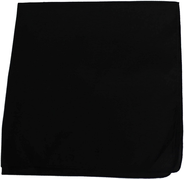 Set of 84 Plain 100% Polyester Bandanas - Bulk Wholesale