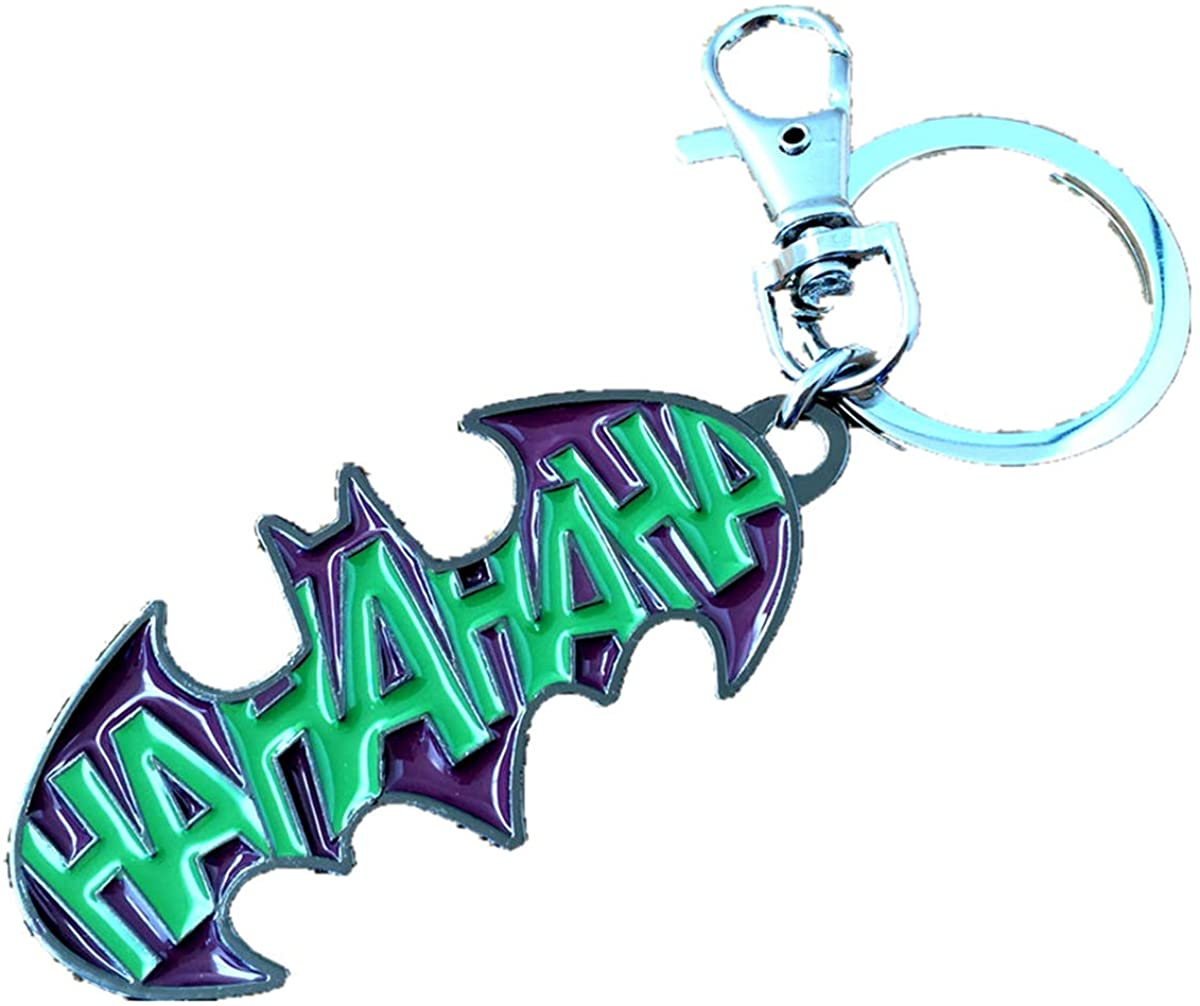 HBSWUI Anime Cartoons Metal Superhero batman Harley Quinn Keychains Gifts for Men Woman