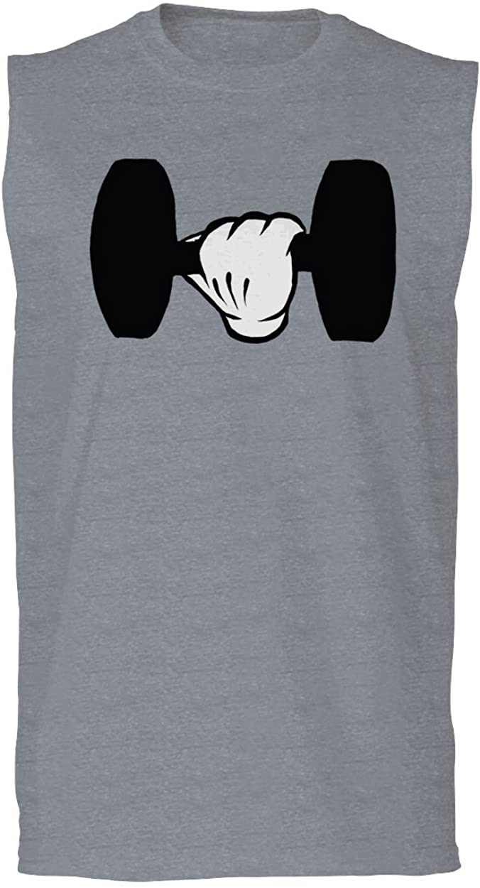 Funny Cool Workout weigths Lift Cartoon Glove Dumbells Dumbell Men's Muscle Tank Top Sleeveless t Shirt