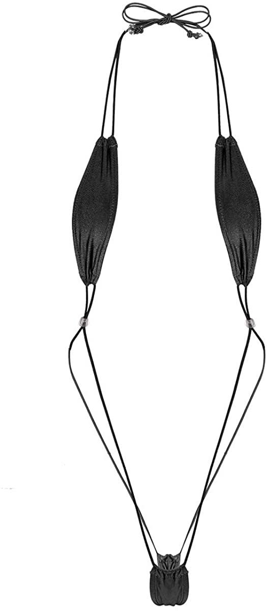 Oyolan Women's Sexy Extreme Slingshot Micro G-String Monokini Mini Bikini Weeny Thongs Swimwear Underwear