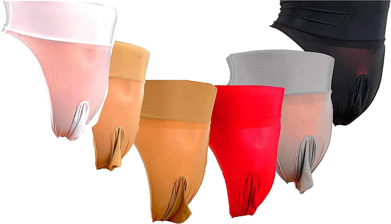 High Waist Glossy Ice Silk Mens Sissy Pouch Panties/Mens Panties