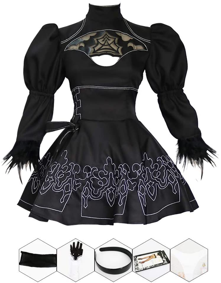 Anime Game 2B Automata Cosplay Costume Sexy Backless Outfit Games Suit Women Role Play Costume Girls Halloween Party Fancy Dress