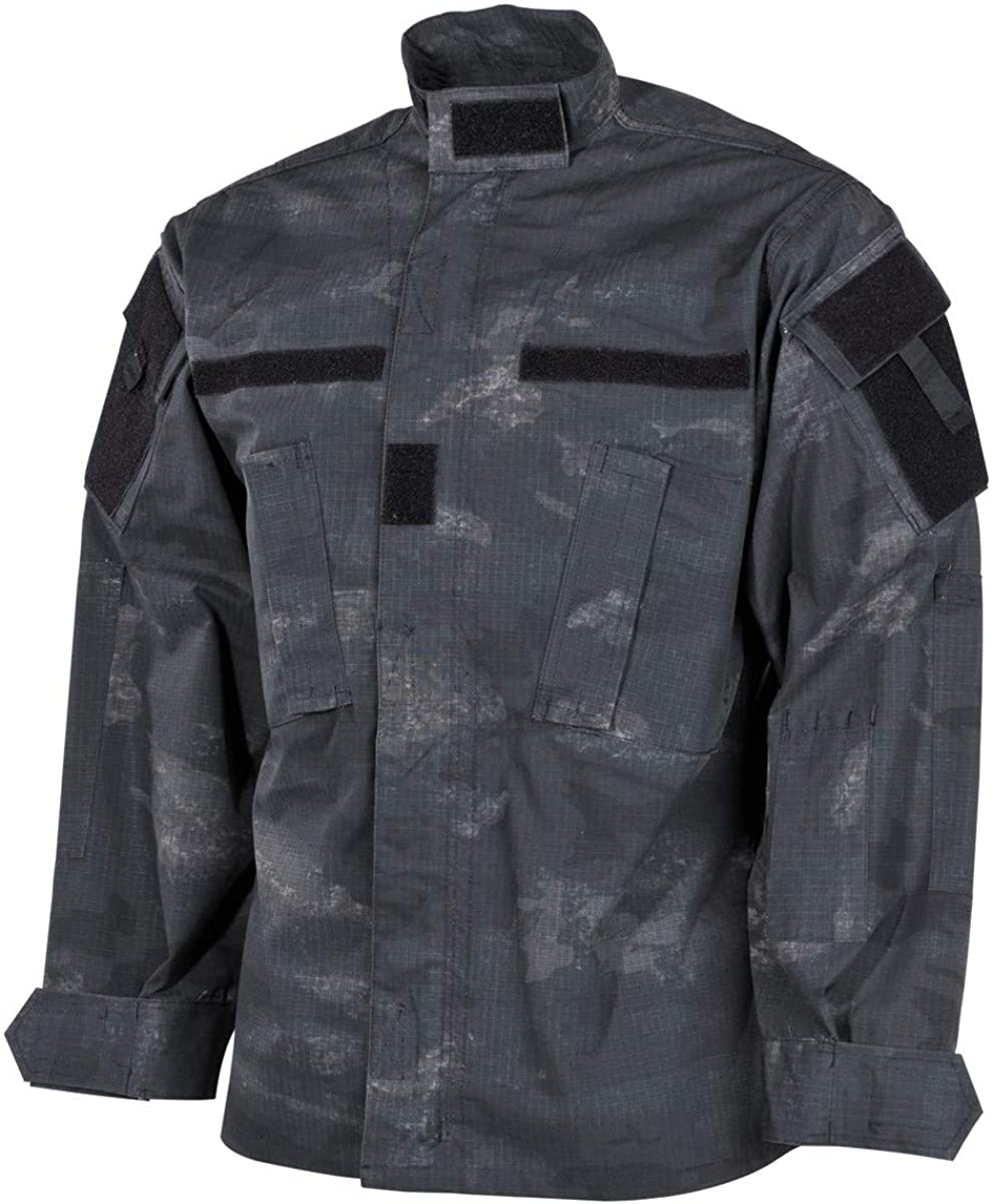 MFH Mens ACU Field Jacket HDT Ripstop Camo LE