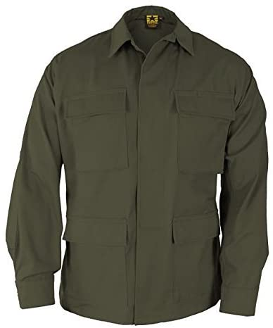 Propper BDU 4-Pocket Coat, 60/40 Cotton/Poly Twill, Large-Long, Olive F545412330L3
