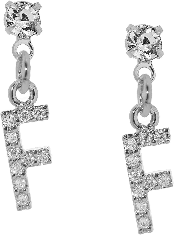 chelseachicNYC Rhinestone Initial Dangle Earrings