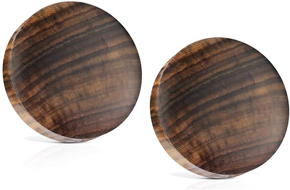 Pierced Owl Sono Wood Saddle Fit Solid Organic Ear Plugs Gauges, Sold As Pair