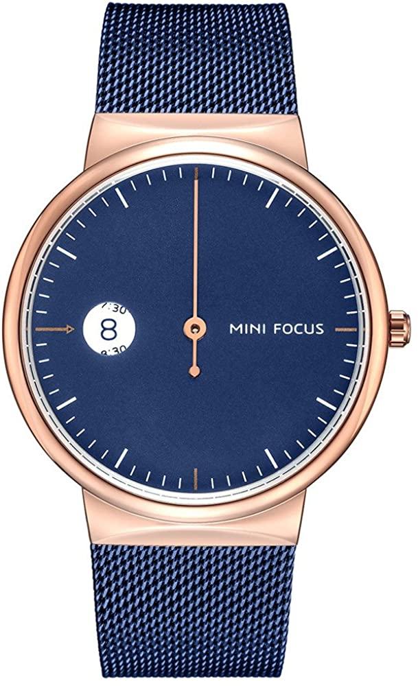 Single Needle Men's Watch Trend Fashion Stainless Steel Mesh Cool Watch