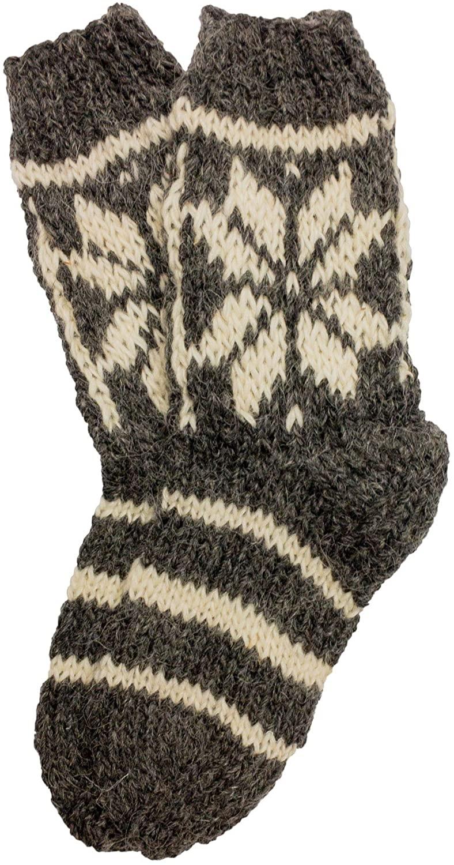Adult Highlander Wool Socks - Edelweiss, Gray