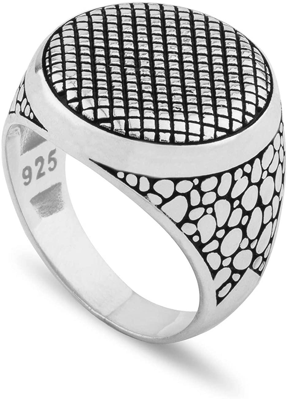 Chicotta Spider Eye Shaped Fine Sterling Silver Ring for Men