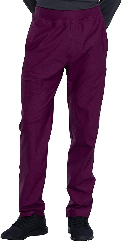 CHEROKEE Form Men's Men's Tapered Leg Pull-on Pant, CK185, M, Wine