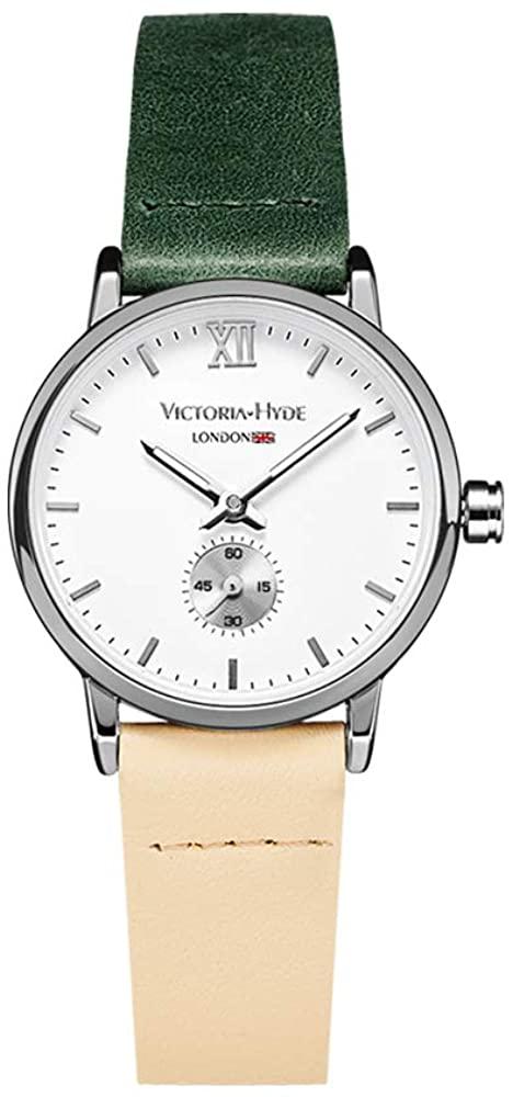 VICTORIA HYDE Retro Women Watches Small Dial Analog Quartz Detachable Genuine Leather Strap Ladies Wristwatch Brown Black Coffee