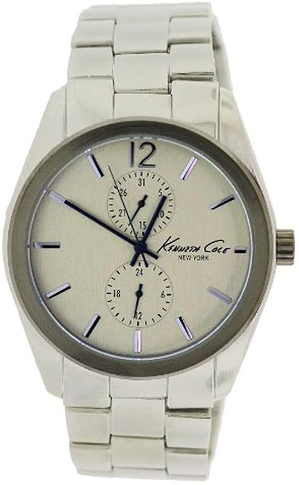 Kenneth Cole New York Stainless Steel Mens Watch44; Silver Dial