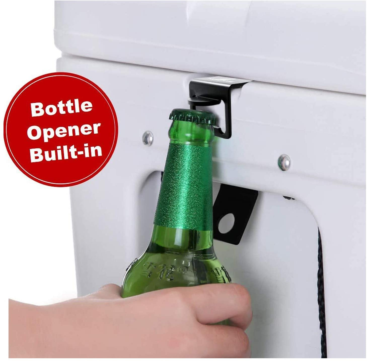 Noa Store Cooler Lock Bracket with Bottle Opener Compatible with Yeti/RTIC Coolers, Made of Highest Grade Stainless Steel (316L)