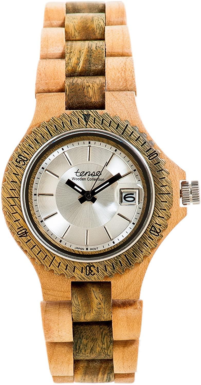 Tense Green Sandalwood Two Tone Mens Sports Watch G4102MG Silver Dial