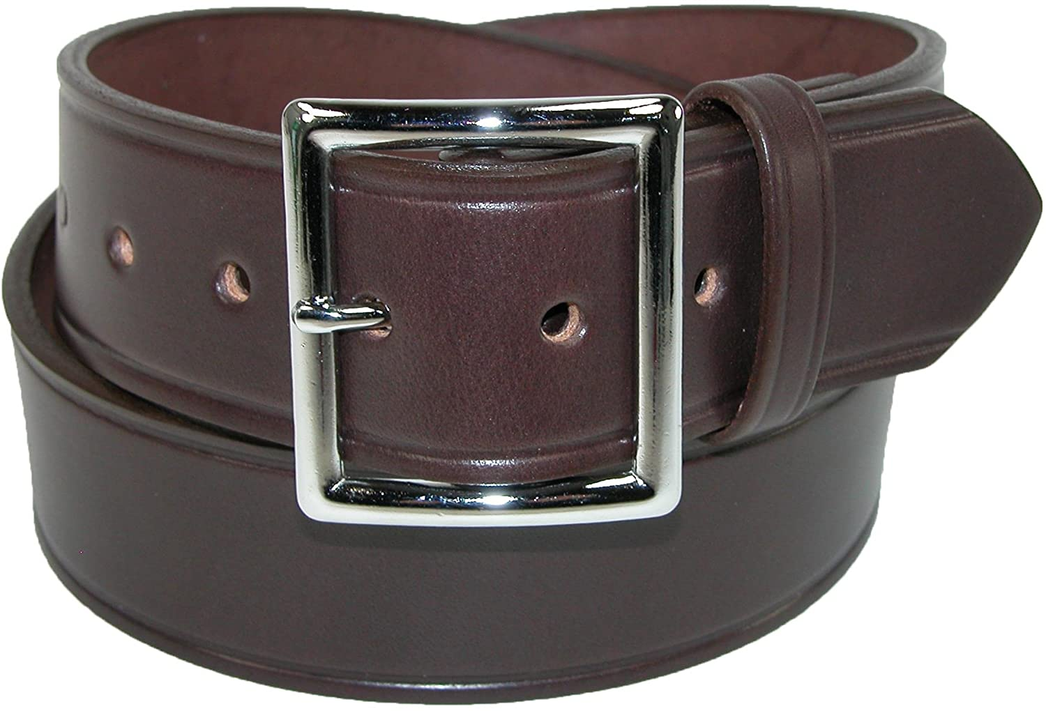 Boston Leather Mens Leather 1 3/4 Inch Garrison Belt
