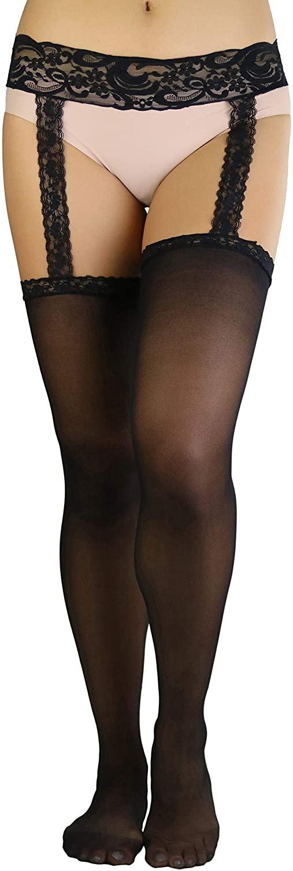 ToBeInStyle Women's Timeless Sheer Backseam Stockings