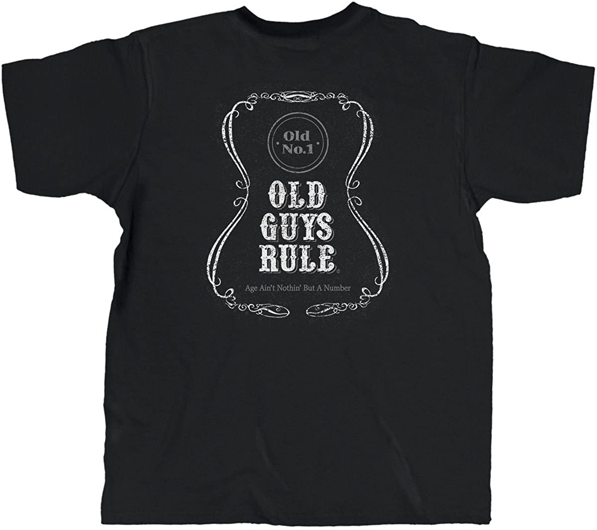 OLD GUYS RULE T Shirt for Men | Age Ain't Nothin' But A Number | Black