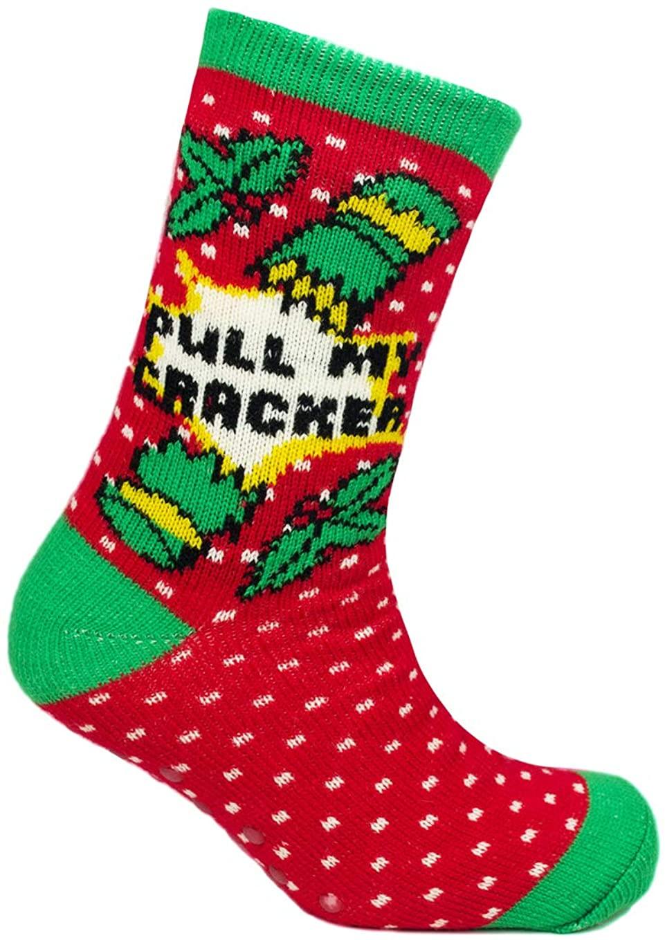Mens Novelty Christmas Fleece Lined Slipper Socks