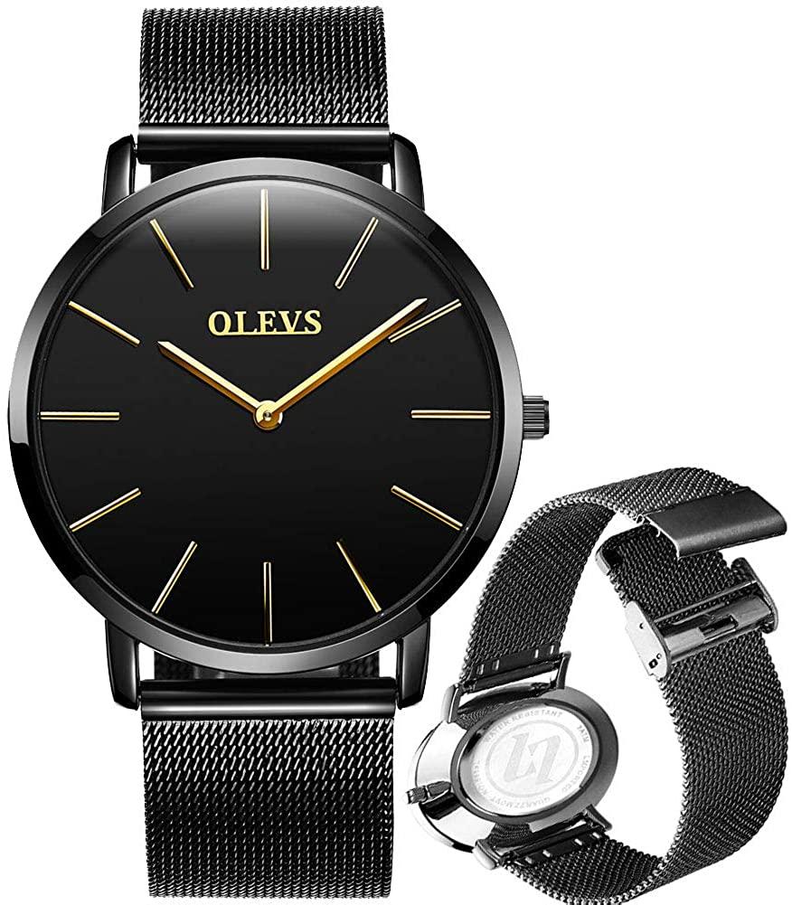 OLEVS Top Brand Luxury Watch for Men Thin Wrist Watch Women Watch Waterproff Leather Dress Simple Quartz Wristwatch